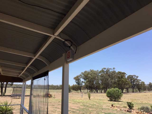 I installed the whole system externally and mounted the booster on an external wall under the verandah for weather protection. I am getting data downloads in excess of 20Mbps.