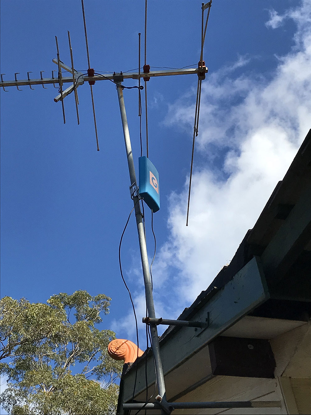 Optus 4G internet signal increase with True BlueG Spotter Antenna in the Blue Mountains NSW