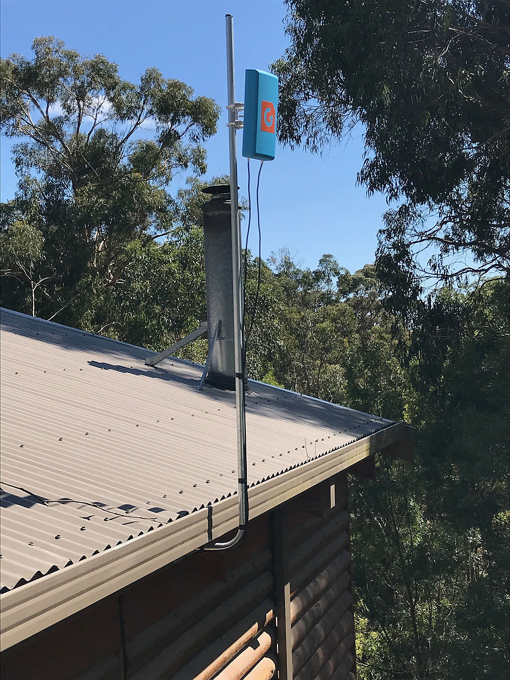 Optus 4G internet signal increase with True BlueG Spotter Antenna