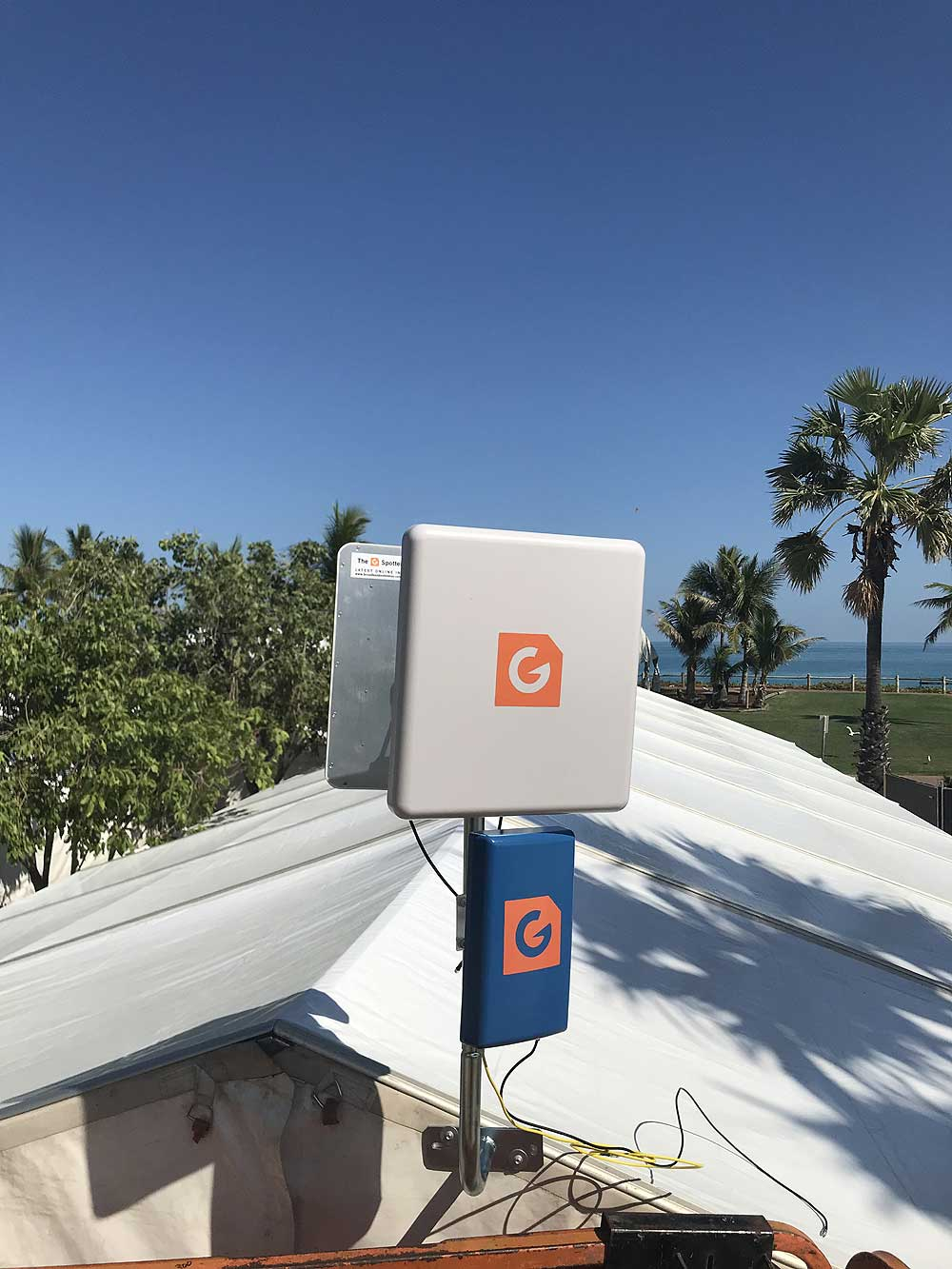 On behalf of the Kimberley Land Council and AIATSIS we would like to express our Gratitude for all your support and professional insight, also for arranging the prompt delivery of the required wireless hardware that supplied connectivity for our event staff and 800 or so delegates. Arun and I were really impressed with the range we were able to receive using the dual high-gain antenna setup Dave and G Spotter Antennas supplied all the necassary Antenna & Cabling Equipment